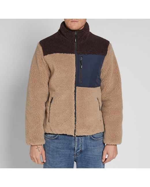 b9b35e9451 ... KENZO - Brown Shearling Down Jacket for Men - Lyst ...