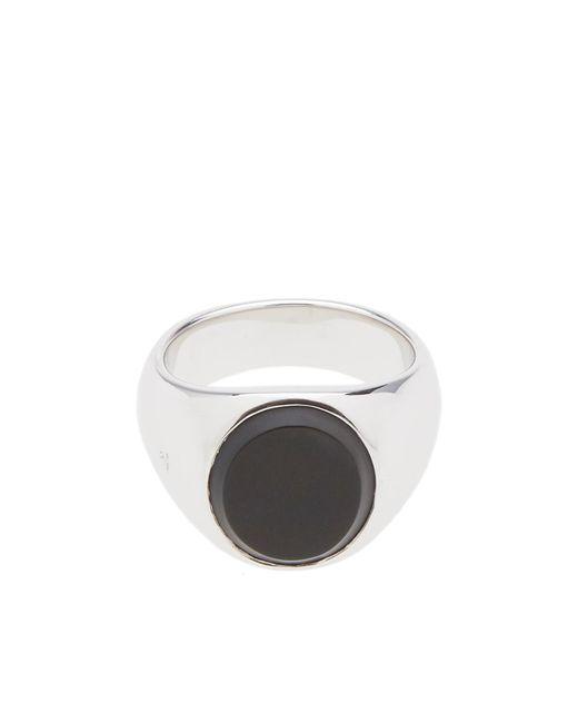 Tom Wood - Metallic Oval Black Onyx Ring for Men - Lyst