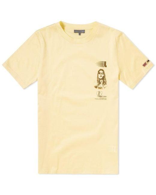 Lanvin - Yellow Symbol Branding Tee for Men - Lyst