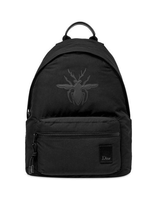 2d709eeb76fb Dior Homme - Black Bee Embossed Backpack for Men - Lyst ...