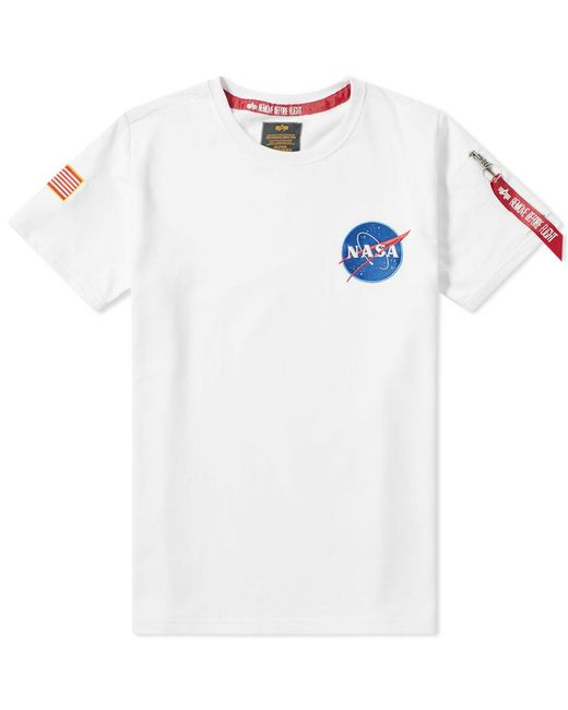 341e2bc8 Alpha Industries Nasa Heavy Tee in White for Men - Save 33% - Lyst