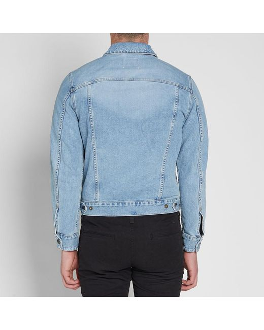 b2a0efeb739 ... Lyst Rag   Bone - Blue Definitive Slim Fit Washed Denim Jacket for Men  ...