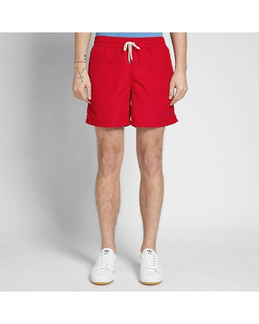 5f15778d1a9a ... coupon code polo ralph lauren red classic traveller swim short for men  lyst a222c 29b1e