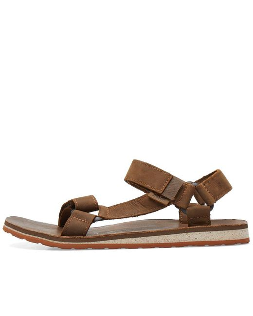 bac23c762fb5 ... Teva - Brown Original Universal Premium Leather Sandal for Men - Lyst  ...