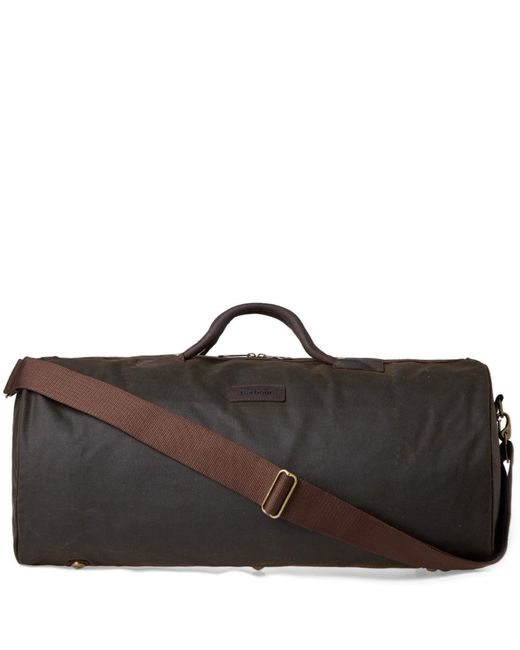 Barbour - Green Wax Holdall for Men - Lyst