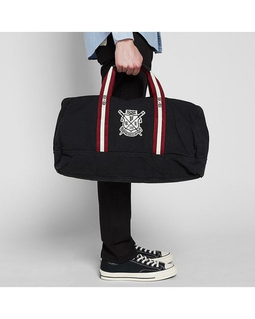85473297fc9f ... Polo Ralph Lauren - Black Rowing Club Embroidered Holdall for Men - Lyst