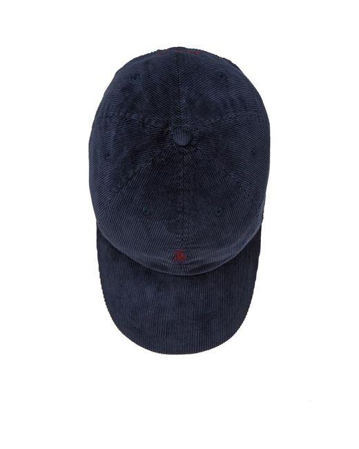 23bce7ef891398 ... Polo Ralph Lauren - Blue Corduroy Cap for Men - Lyst ...