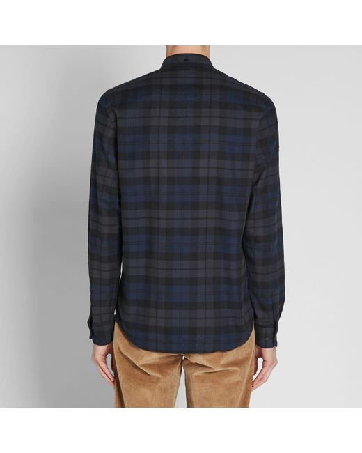 7536ae268f ... Norse Projects - Blue Anton Flannel Check Shirt for Men - Lyst ...