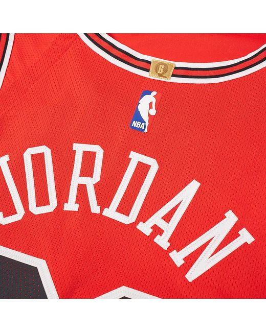 951d55c84 ... Nike - Red Michael Jordan Icon Edition Authentic Jersey for Men - Lyst  ...