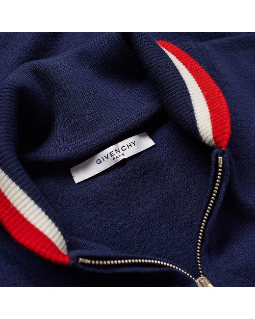 79c7e935cf3 Givenchy Taping Knitted Bomber in Blue for Men - Save 38% - Lyst