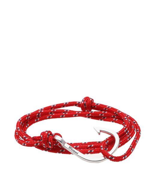 Miansai - Red Silver Hook Rope Bracelet for Men - Lyst
