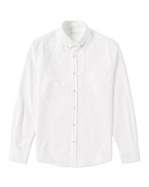 Lyst sunspel button down oxford shirt in white for men for White button down oxford shirt