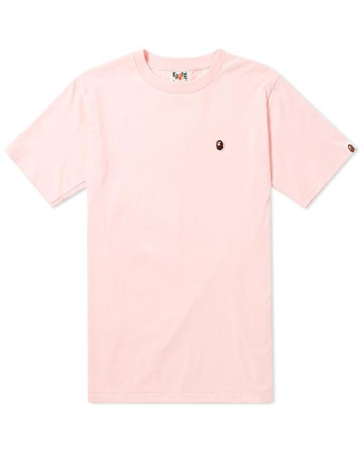 A Bathing Ape | Pink Ape Head One Point Tee for Men | Lyst