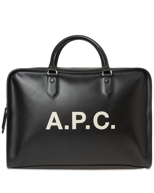 A.P.C. - Black Paul Logo Bag for Men - Lyst