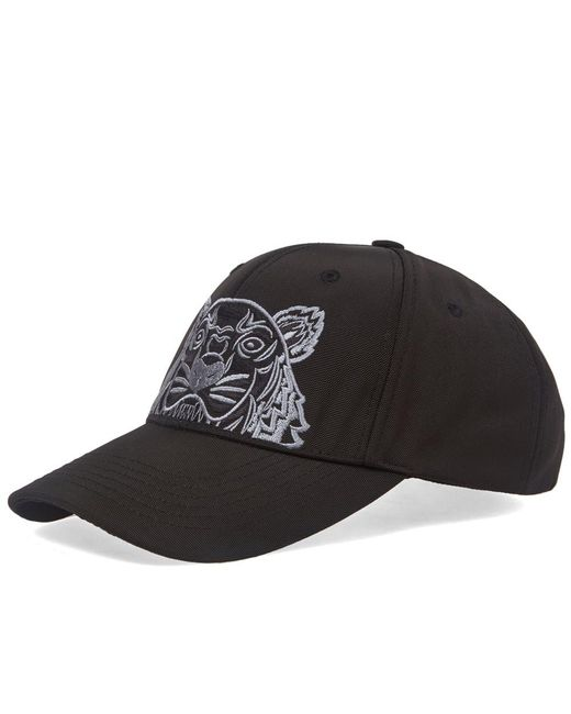 5cb6bd73e8a KENZO Tiger-embroidered Canvas Cap in Black for Men - Save 39% - Lyst
