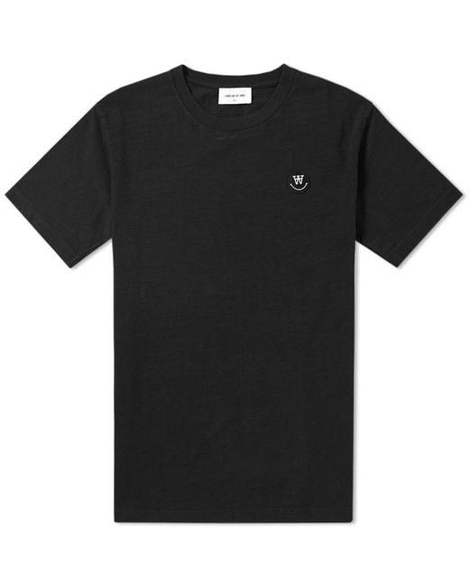 WOOD WOOD | Black Slater Logo Slub Tee for Men | Lyst