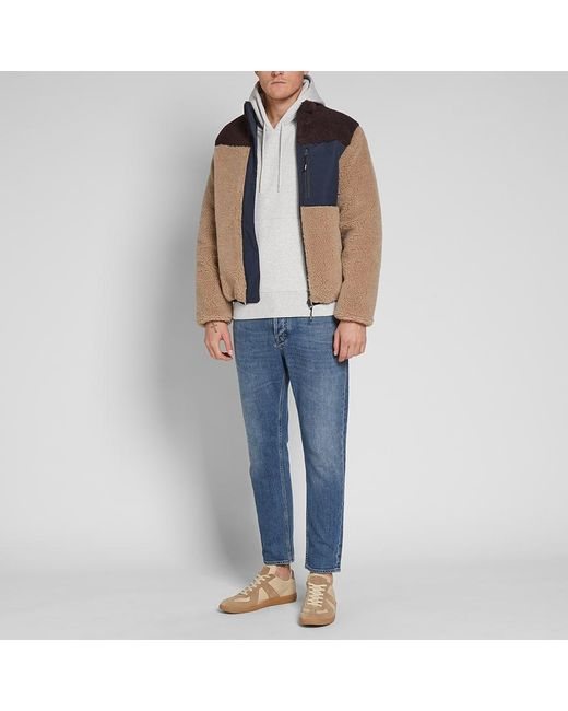 a409cb4807 ... KENZO - Brown Shearling Down Jacket for Men - Lyst