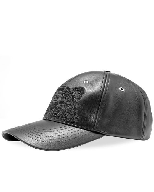 KENZO - Black Leather Tiger Cap for Men - Lyst