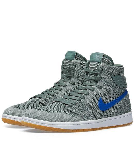 Nike - Gray Air Jordan 1 Retro High Flyknit for Men - Lyst