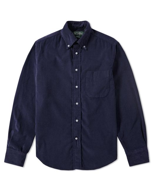 Lyst Gitman Brothers Vintage Corduroy Shirt In Blue For