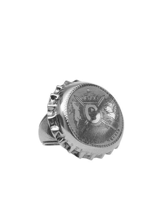 Alexander McQueen | Metallic Bottle Cap Ring | Lyst