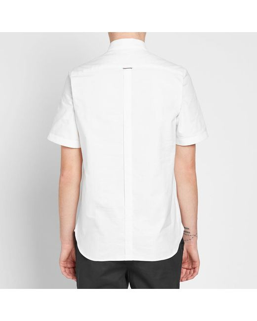 e1e85d860 ... Fred Perry Authentic - White Knitted Collar Oxford Shirt for Men - Lyst  ...