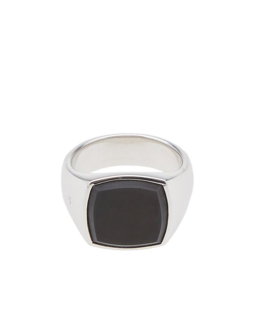 Tom Wood   Metallic Cushion Black Onyx Ring for Men   Lyst