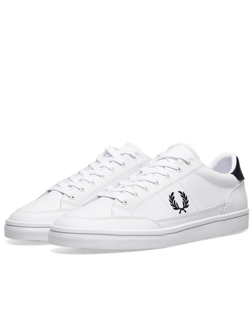 sale retailer 24caf 471cd Fred Perry Authentic - White Fred Perry Deuce Leather Sneaker for Men - Lyst  ...