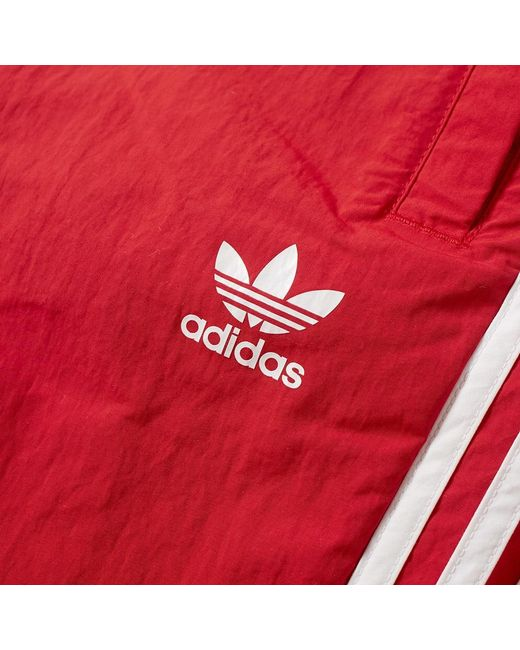 398ecaecb66e0 ... Adidas - Red 3 Stripe Swim Short for Men - Lyst ...