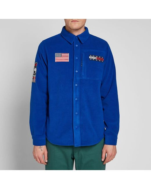 0750f5fa ... Tommy Hilfiger - Blue 6.0 Outdoors Fleece Shirt M7 for Men - Lyst ...