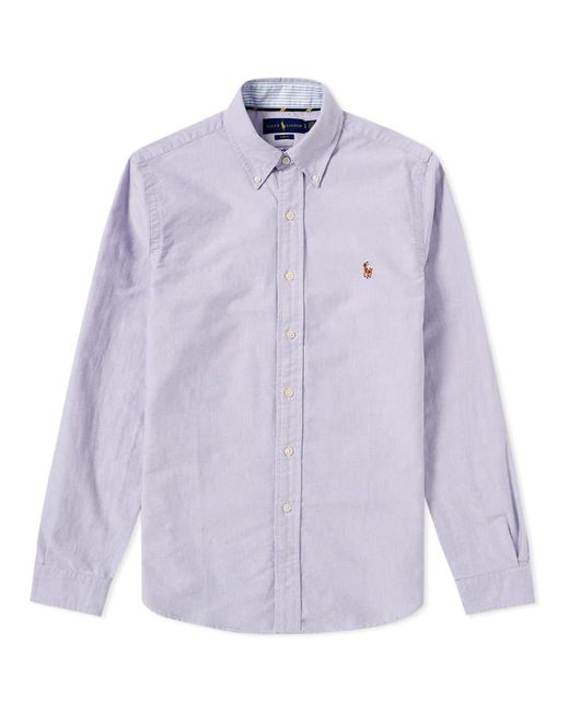 Polo Ralph Lauren - Purple Slim Fit Button Down Oxford Shirt for Men - Lyst