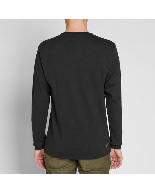 ad56bbe12037 ... Uniform Experiment - Black Long Sleeve Uen Physical Fitness Tee for Men  - Lyst ...