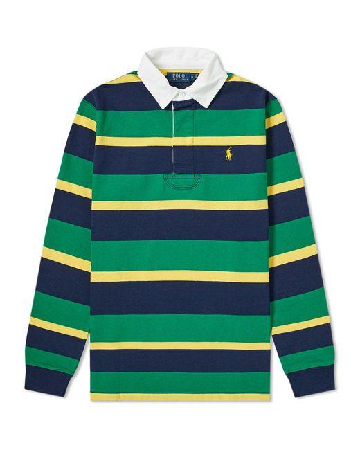 e6e49d81 Polo Ralph Lauren - Green Long Sleeve Striped Rugby Shirt for Men - Lyst ...