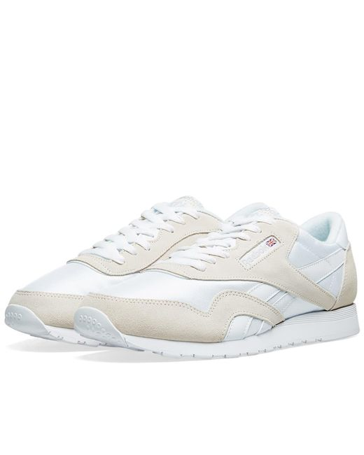 a21366a3cd9 Lyst - Reebok Classic Nylon Og in White for Men - Save 35%