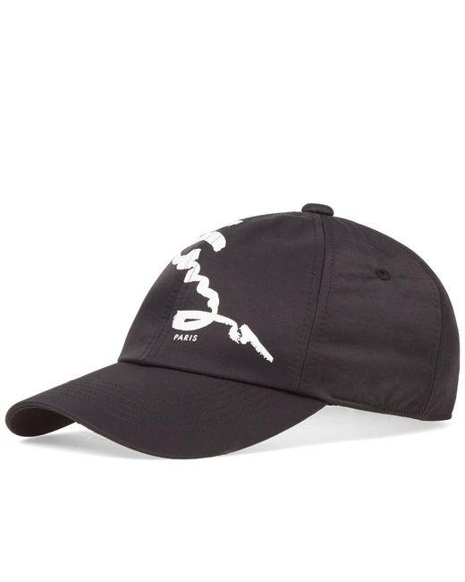 KENZO - Black Signature Cap for Men - Lyst