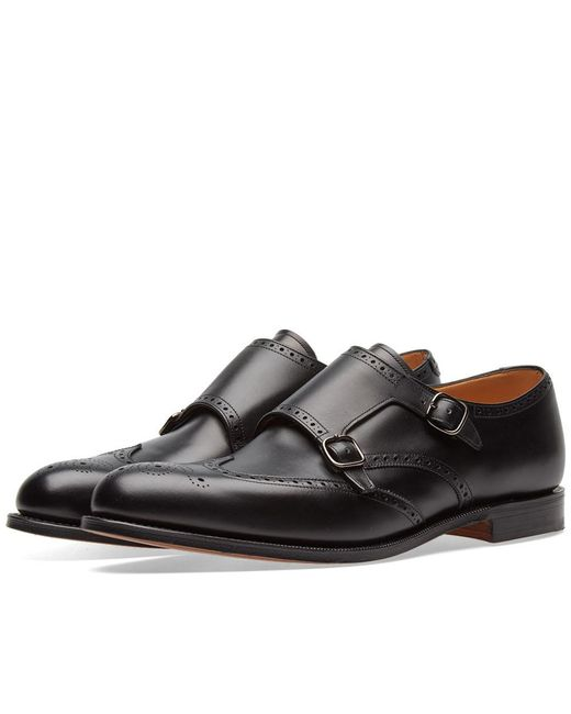 Church's - Black Church's Chicago Wing Tip Double Monk Shoe for Men - Lyst