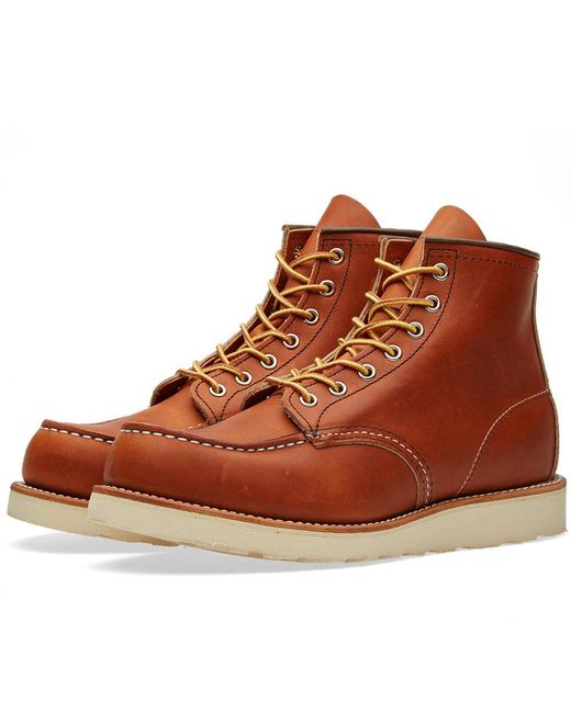 """Red Wing - Brown 875 Heritage Work 6"""" Moc Toe Boot for Men - Lyst"""