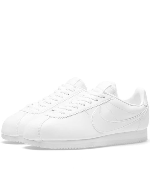 Nike - White W Classic Cortez Leather - Lyst