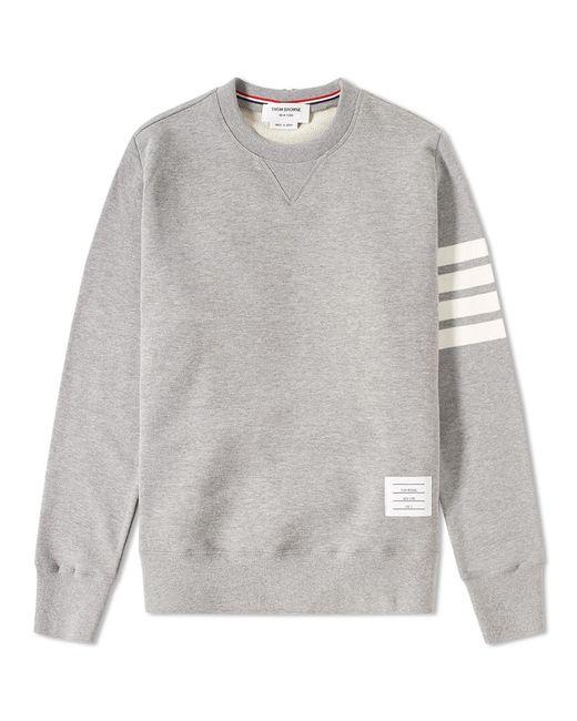 Thom Browne - Gray Intarsia Stripes Distressed Sweatshirt for Men - Lyst