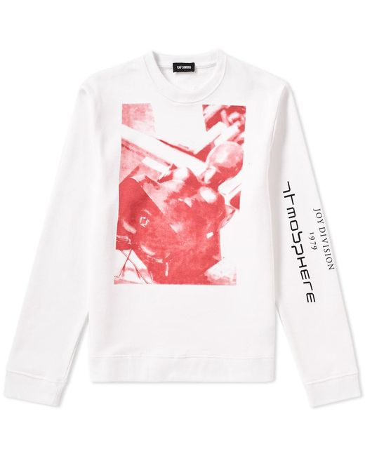 Raf Simons - White X Joy Division Atmosphere Regular Sweat for Men - Lyst