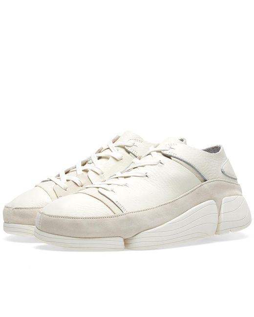 Clarks - Leather Trigenic Evo Trainers White Men's Shoes (trainers) In White for Men - Lyst