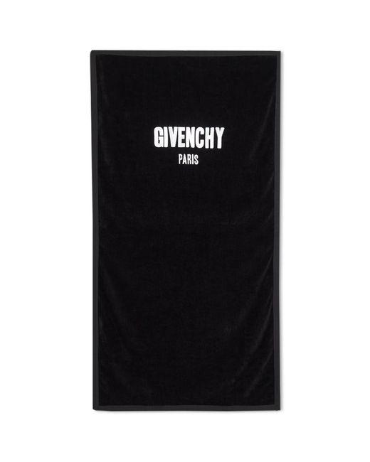 Givenchy - Black Logo Towel for Men - Lyst