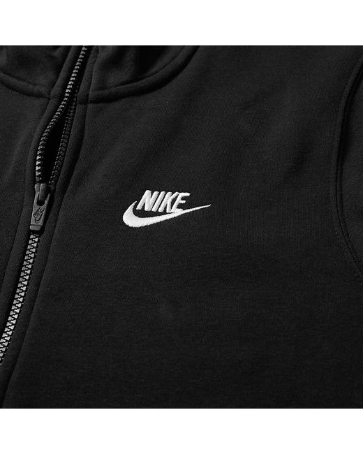f24682368 ... Nike - Black Club Half Zip Sweat for Men - Lyst ...