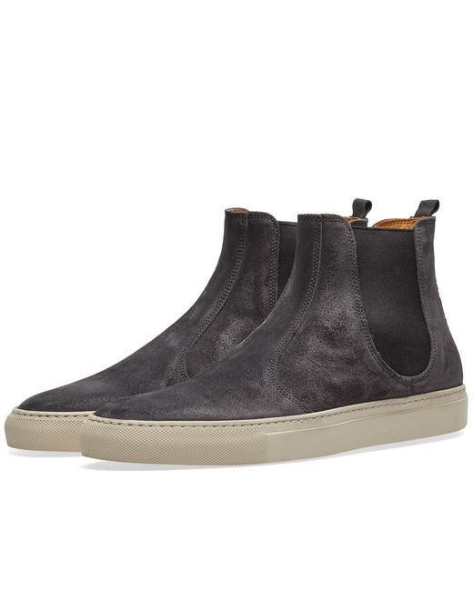 Buttero - Gray Tanino Suede Chelsea Boot for Men - Lyst