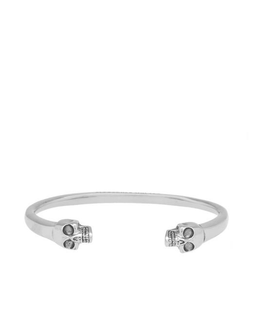 Alexander McQueen | Metallic Heavy Skull Bangle for Men | Lyst