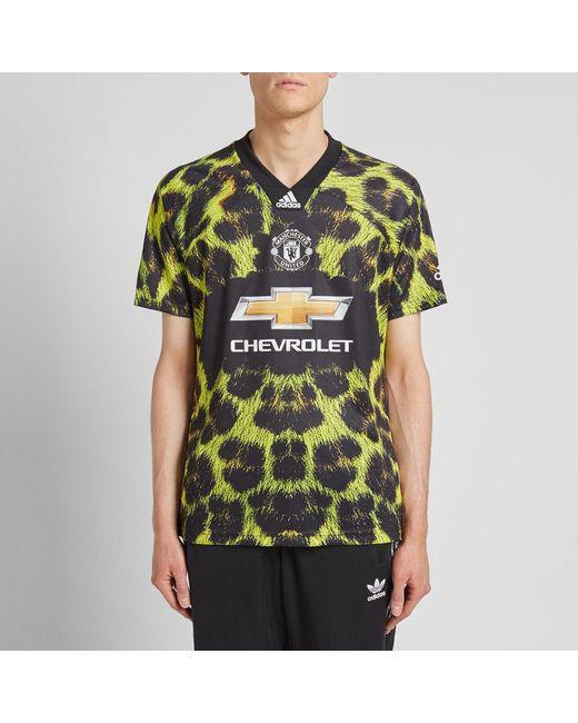 81a9f4d9d ... Adidas Originals - Green Manchester United Football Jersey for Men -  Lyst ...