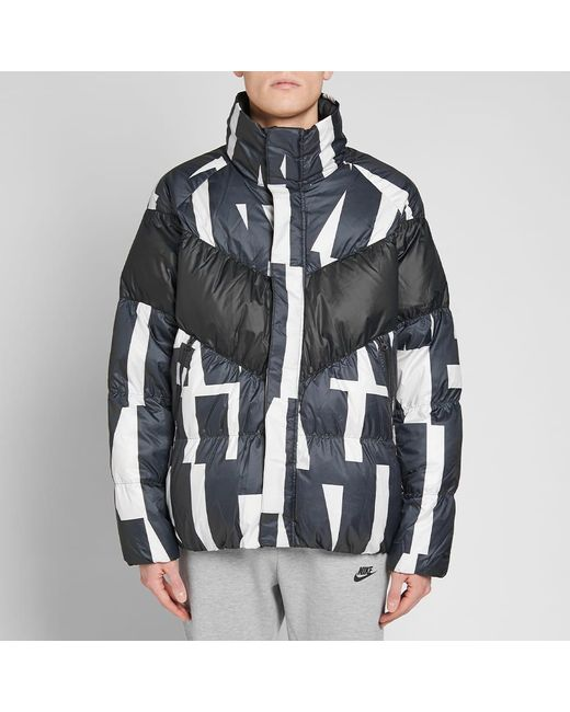 980c54a3f53 ... Nike - Black Sportswear Quilted Printed Shell Down Jacket for Men -  Lyst ...