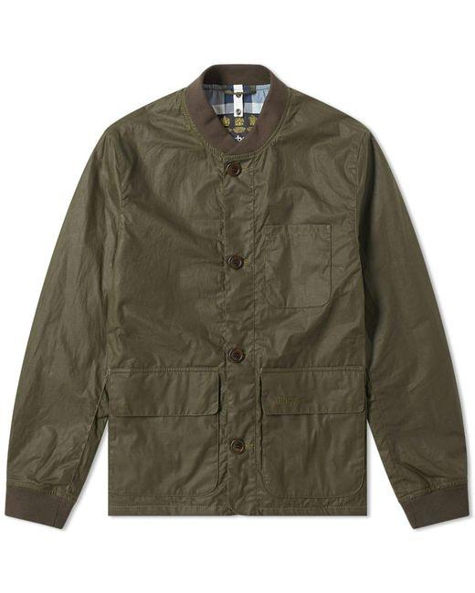 Barbour Green Kirkstile Waxed Bomber Jacket for men