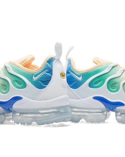 c65216dcbb Nike Air Vapormax Plus TM Blue Black Men's Running Shoes - BE SEEN.