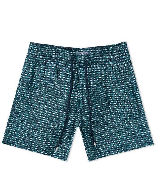 Vilebrequin - Blue Moorise Geometric Fish Print Swim Short for Men - Lyst